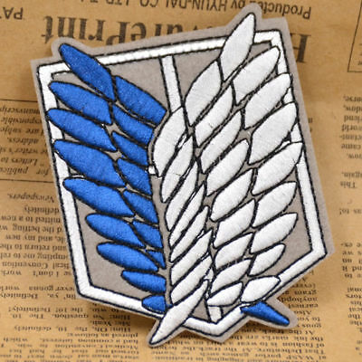 Anime Attack on Titan Scouting Legion Recon Corps Badge Patch Sewing Embroidery