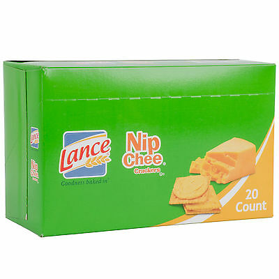 Lance Nip Chee Cheddar Cheese Sandwich Crackers 20 Count Box - 6/Case