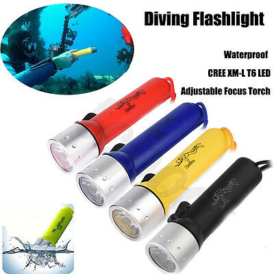 Underwater CREE XM-L T6 LED Bright Diving Flashlight Torch Lamp Light Waterproof
