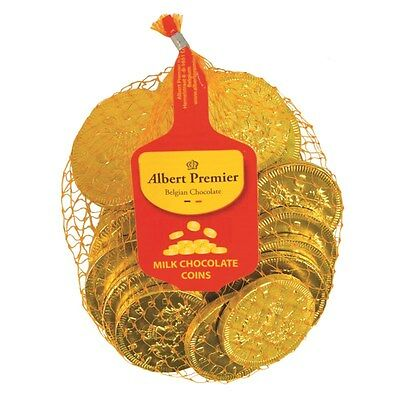 120g Gold Belgian Milk Chocolate Coins Net Bag Classic Sweets Gifts Party Bag • AUD 8.37