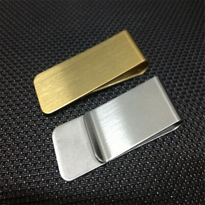 High Quality New Stainless Steel Slim Slim Money Clip Credit Card Wallet Holder