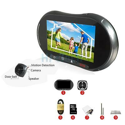 "5"" Doorbell GSM SMS Alarm Video Digital Peephole IR Camera Door Eye Viewer Black"