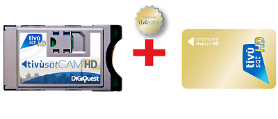 Tivusat Cam Hd+Card Hd In Bundle-Compatibile Con Tv E Decoder Con Tuner Sat/ci