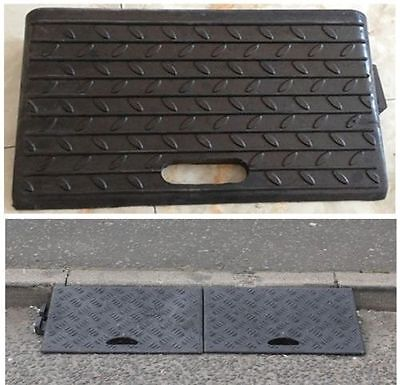 New 2X Rubber Kerb Ramps for Cars Caravans Wheelchair Mobility Disabled Access