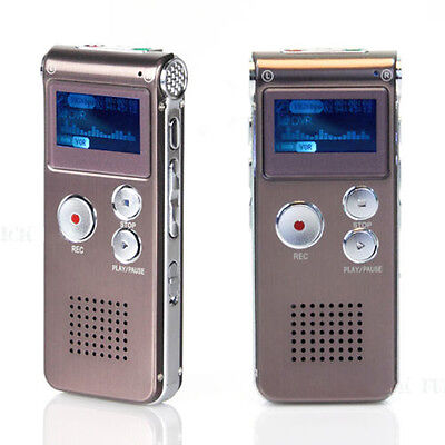 Rechargeable 16GB LCD USB Digital Audio Voice Recorder Dictaphone MP3 Player Set