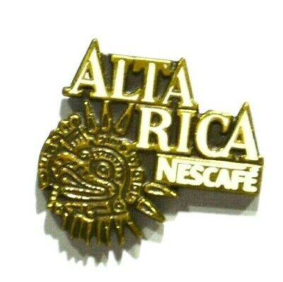Pins Cafe Torrefaction Alta Rica Nescafe Metal Epais Helium