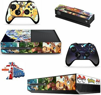 Pokemon Go Pikachu  Xbox one skins decals stickers + kinect + 2 controllers