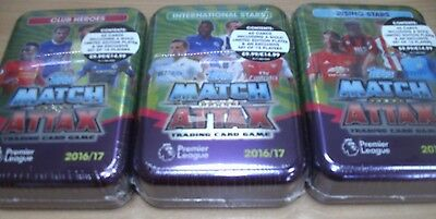 Topps Match Attax 2016/17 Trading Cards Game Collector Mega Tin + Limited Ed