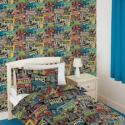 Official Doctor Dr Who Comic Wallpaper Feature Wall Decor New Free P+P
