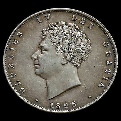 1825 George IV Milled Silver Half Crown