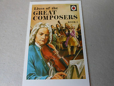 """POST CARD LADYBIRD size 4"""" by 6"""" LIVES OF THE GREAT COMPOSERS    series 662"""