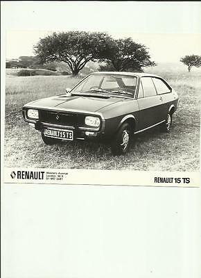 RENAULT 15 TS PRESS PHOTO 'SALES BROCHURE connected'