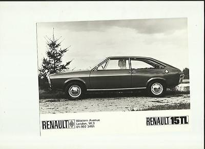 RENAULT 15 TL PRESS PHOTO 'SALES BROCHURE connected'