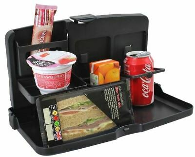 Car Seat Tray & Food Drink Holder Travel Table Picnic Compact Foldable