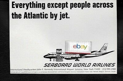 Seaboard World Airlines 1967 Dc-8F Everything Except People Across Atlantic Ad