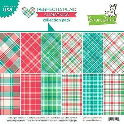 Lawn Fawn - Perfectly Plaid Christmas - Collection Pack 12x12
