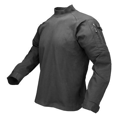 Maelstrom TAC PRO Mens Tactical Combat Shirt Rip Stop and Shoulder Pockets Black