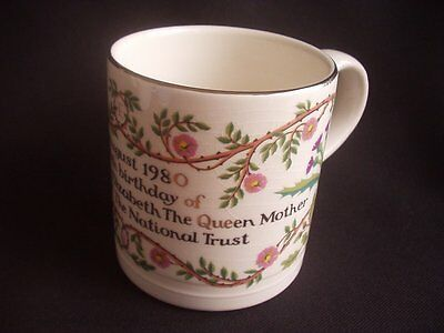 QUEEN MOTHER ~80th BIRTHDAY ~4th AUGUST 1980 ~NATIONAL TRUST ~BONCATH ~MUG
