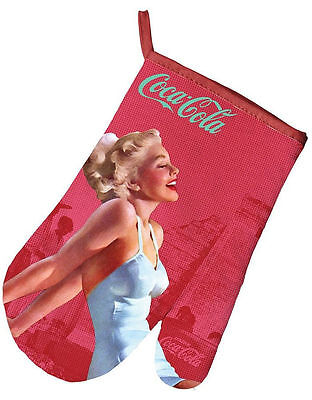 Coca Cola Retro Pinup Oven Glove / Mitt ~ Rockabilly Advertising 50s 40s Vintage