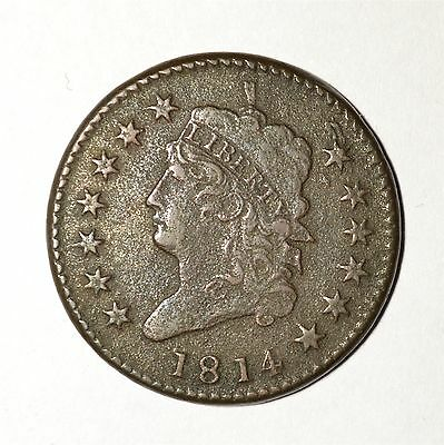 1814 Classic Head Large Cent Crosslet 4 United States Coin