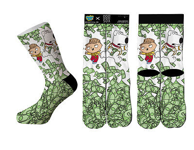 Odd Sox Family Guy Paper Chasin Officially Licensed Socks Stewie Griffin Money