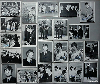 Beatles Topps Trading Cards Lot 23 b/w Photo Green Text Series 2 & 3 Signed Vtg
