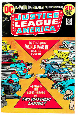 JUSTICE LEAGUE OF AMERICA #108 (FN) JUSTICE SOCIETY Crossover! 1972 JLA JSA