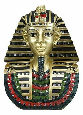 Large Egyptian Pharaoh King Tut Golden Bust Mask Statue Tutankhamun Figurine