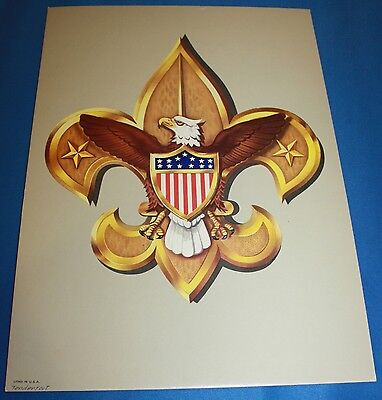 Boy Scouts Of America Cardboard Tenderfoot Poster With Stand