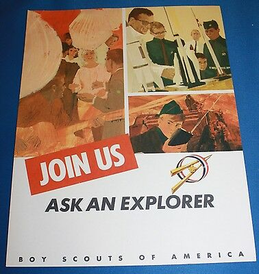 "Boy Scouts Of America Cardboard ""Join Us-Ask An Explorer"" Poster"