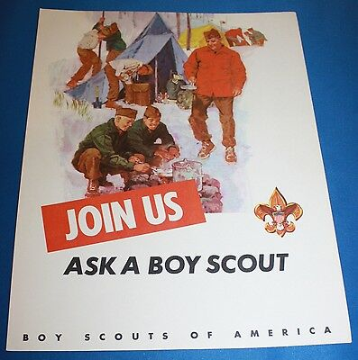"Boy Scouts Of America Cardboard ""Join Us-Ask A Boy Scout"" Poster"
