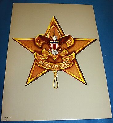 """Boy Scouts Of America Cardboard Star """"Be Prepared"""" Poster With Stand"""