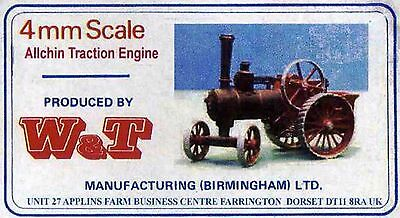 ALLCHIN TRACTION ENGINE - MODEL KIT SCALE 4mm 1:76