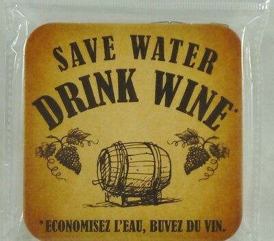 SAVE WATER DRINK WINE  6 Sous-bock sous-verre carton NEUF