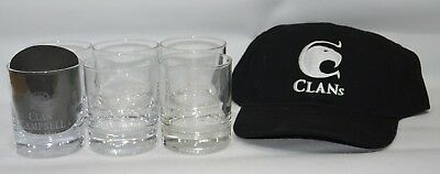 CLAN CAMPBELL WHISKY 6  Beaux verre tumbler + casquette neuf