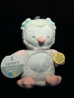 Carter's Ivory Musical OWL Soother Crib Attached tummy light