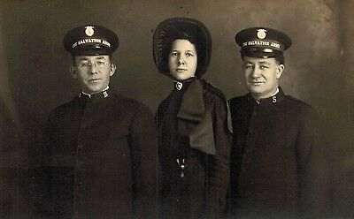 RPPC,SALVATION ARMY,Postcard,U.S.2 Men and a Woman,c.1910-18