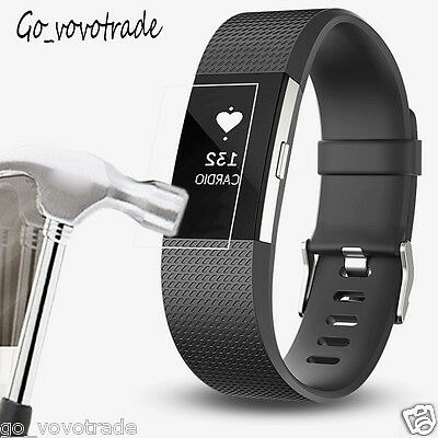 6PC HD Shockproof Frosted Scrub LCD Screen Protector Film For Fitbit Charge 2
