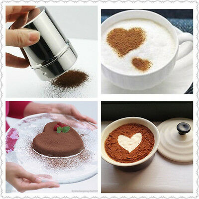 Chocolate Shaker Duster Cocoa powder Sugar Coffee Cappuccino Latte Sifter + Lid