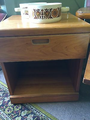 Vintage Retro Solid Bedside Cabinet Table 60s/70s Smart Looking Can Courier