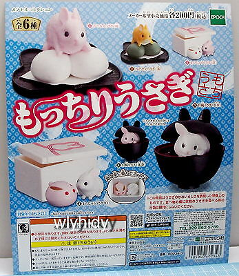 Miniatures Rabbit With Japanese Sweets Figure 6 pcs - Epoch Gashapon ,h#9