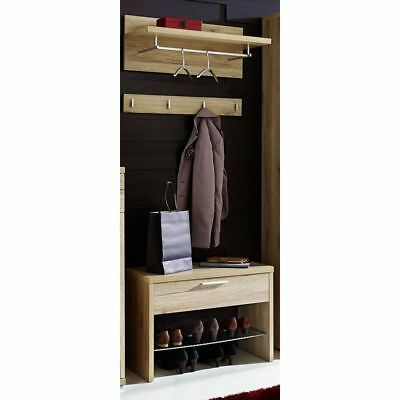 garderobenschrank imperial 2 flur schrank in eiche sonoma und wei 60 cm breit eur 119 00. Black Bedroom Furniture Sets. Home Design Ideas