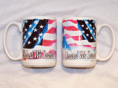United We Stand - 15 oz Full Color Coffee Mug - Made in the USA