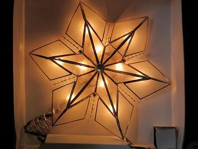 Light Up Illuminated 6Pt Star Christmas Tree Topper~Kurt Adler~New