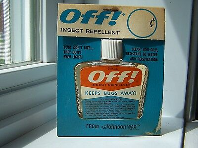 "Vintage ""off"" Insect Repellent Bottle Nos In Pack Brand New -Seal Keep Bugs Away"