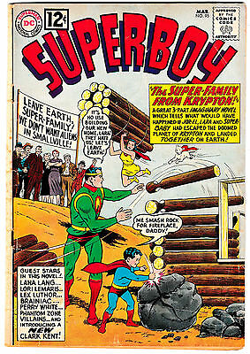 SUPERBOY #95 (GD/VG) The Super-Family From Krypton! Superman as a Boy! 1962 DC
