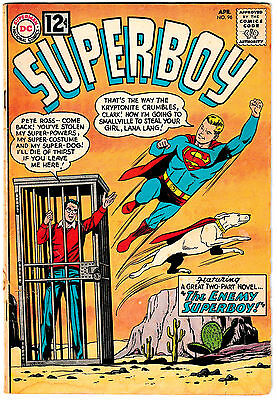 SUPERBOY #96 (VG) The New Boy of Steel! Krypto App! 1962 Silver-Age DC