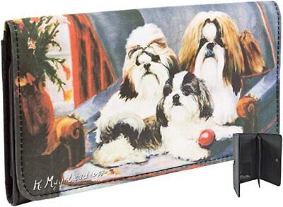 New Shih Tzu Dog Check Book Wallet By Ruth Maystead 3 Dogs Free Shipping