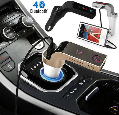 Bluetooth Car Kit Handsfree FM Transmitter Radio MP3 Player USB Charger & AUX SD