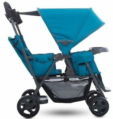 Joovy Caboose Ultralight Graphite Double Twin Tandem Stroller w Rear Second Seat